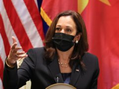 The US vice president Kamala Harris tackled the issue of human rights in Vietnam during her trip to the country (Evelyn Hockstein/Pool Photo via AP)