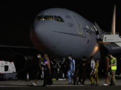 Arrivals at RAF Brize Norton who have been evacuated from Afghanistan (Cpl Will Drummee RAF/Ministry of Defence/PA)