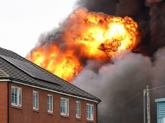 Fire at industrial premises in Juno Drive, Leamington Spa (Jacob King/PA)