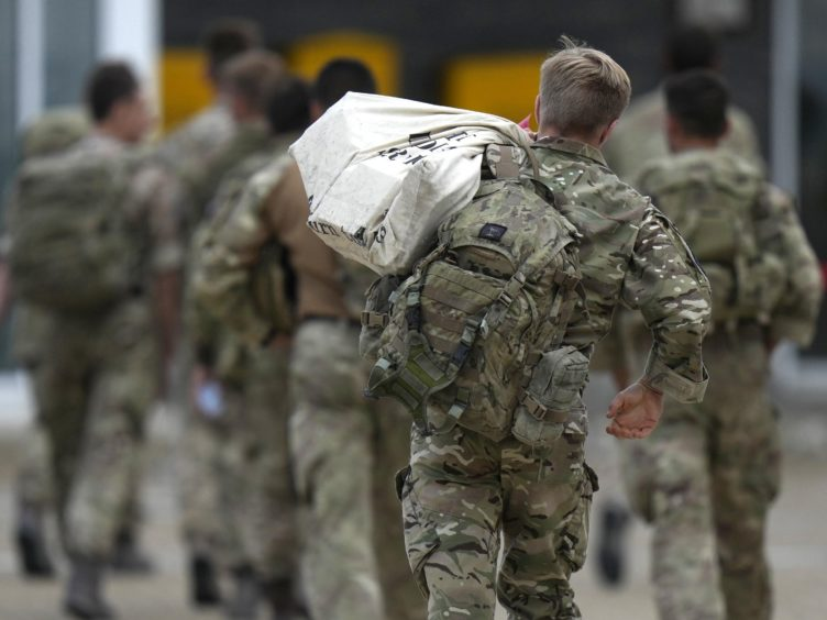 Members of the armed forces at RAF Brize Norton, following their return from Afghanistan (Alastair Grant/PA)