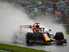 Red Bull driver Max Verstappen on his way to pole position (Francisco Seco/AP).