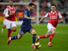 Lionel Messi made his PSG debut on Sunday (Francois Mori/AP)