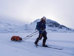 Alex Flynn on the Kungsladen Trail in the Swedish Arctic (Scott Gilmore)