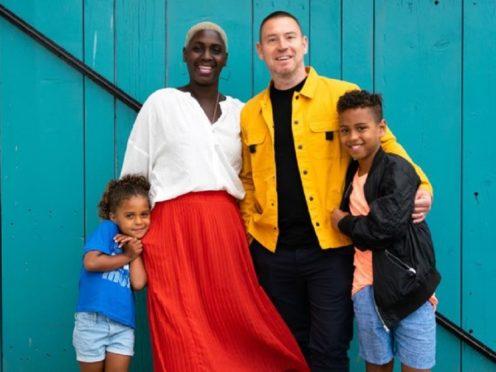 Mark and Simone Lemon with their children, Thea and Otis (Mark Holbrook Photography/Mark Lemon/PA)