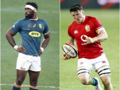 Siya Kolisi and Tom Curry will go head to head in Saturday's final Test (PA)