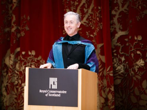 Alan Cumming received an honorary doctorate from the Royal Conservatoire of Scotland (Robert McFadzean/RCS/PA)