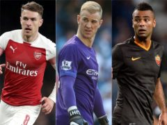 Aaron Ramsey, Joe Hart and Ashley Cole have all played in Serie A in recent years (PA)