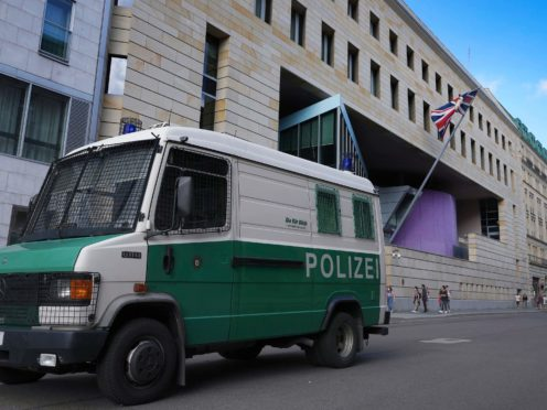 A British embassy employee in Berlin has been arrested on suspicion of spying for Russia, German prosecutors have said (Michael Sohn/AP)