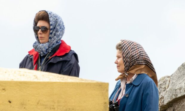 First glimpse of Princess Anne on set as filming of The Crown season five heads to Lossiemouth
