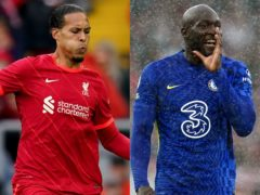 Who will come out on top this week in the battle between Virgil Van Dijk and Romelu Lukaku? (PA)
