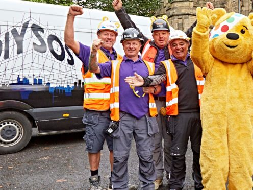 The DIY SOS team with Pudsey (BBC/PA)