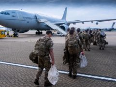 British troops on a flight to Afghanistan (LPhot Ben Shread/MoD/PA)
