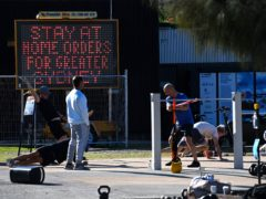 People exercise at Bondi Beach in Sydney (Bianca De Marchi/AAP Image via AP)