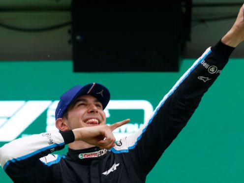 Alpine driver Esteban Ocon secured a dramatic victory in the Hungarian Grand Prix (Florion Goga/AP)