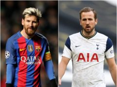 Lionel Messi's sudden free agency could spell bad news for Harry Kane (Andrew Milligan/Daniel Leal-Olivas/PA)