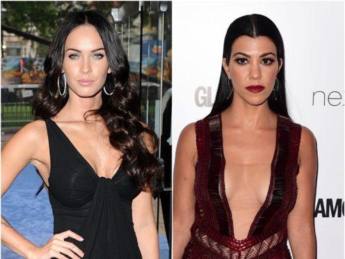 Megan Fox and Kourtney Kardashian reunited for a steamy underwear advert photoshoot (PA)