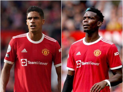 Raphael Varane has praised Paul Pogba's influence at Manchester United (Martin Rickett/PA)