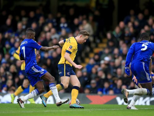 Kevin van Veen in action against Chelsea (Nick Potts/PA)