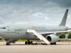 RAF AirTanker A330 Voyager ZZ336. Rolls-Royce and Babcock have sold their stakes in AirTanker Holdings (Paul Crouch/MoD/Crown Copyright/PA)
