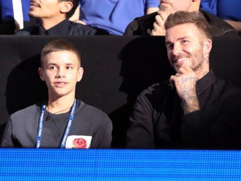 David Beckham's son Romeo made his professional debut on Sunday night (John Walton/PA)