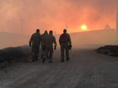 Climate change has brought an increased risk of wildfires (SFRS/PA)