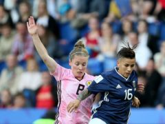 Kim Little (left) brings Scotland career to a close (Richard Sellers/PA)
