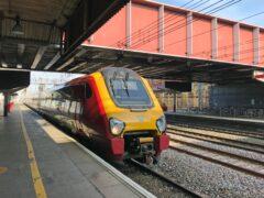 A train at Crewe station (Martin Keene/PA)