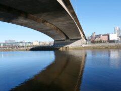 The bridge cuts through the centre of Glasgow (Transport Scotland/PA)