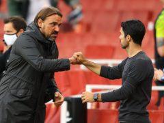 Norwich City head coach Daniel Farke (left) is full of respect for the work of Arsenal boss Mikel Arteta (Richard Heathcote/NMC Pool/PA)
