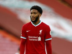 Joe Gomez played his second 90 minutes of the season for Liverpool (Phil Noble/PA)