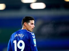 Everton playmaker James Rodriguez is in talks about a move to Qatar (Alex Livesey/PA)