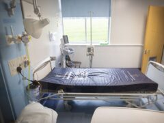 There were 12,869 staffed hospital beds for acute patients last year, NHS Scotland figures show (Jane Barlow/PA)