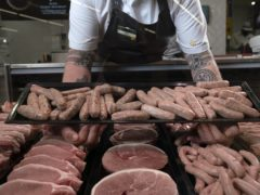 The grace period extension means sausages and other chilled meats will be able to continue to cross the Irish Sea (Jon Super/PA)