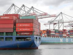 Shipping problems have driven up costs for manufacturers (Andrew Matthews/PA)
