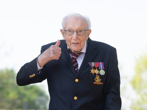 Captain Sir Tom Moore would have 'loved' the book One Hundred Reasons To Hope, his daughter said. (Joe Giddens/ PA)