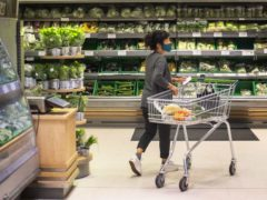 Supermarket sales fell in September compared with a year earlier (Victoria Jones/PA)