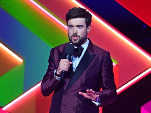 Jack Whitehall during the Brit Awards 2021 (Ian West/PA)