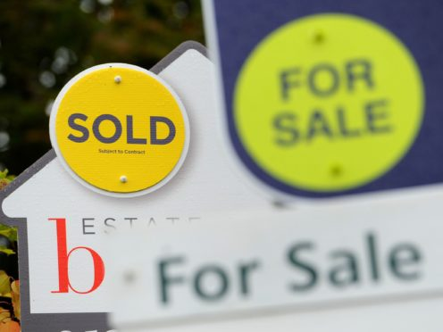 House price growth recorded a surprising bounceback in August as property values leapt by 11% annually, according to Nationwide Building Society (Andrew Matthews/PA)