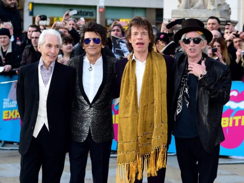 Charlie Watts, Ronnie Wood, Mick Jagger and Keith Richards of The Rolling Stones (Ian West/PA)