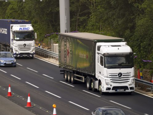Around 100,000 drivers of HGV lorries are missing from the UK's roads. (Steve Parsons/PA)