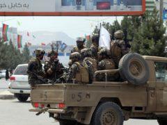 Taliban special force fighters at Hamid Karzai International Airport (Khwaja Tawfiq Sediqi/AP)