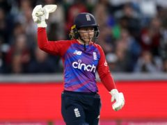 Tammy Beaumont struck 97 as England reached their highest ever T20 international score against New Zealand (Zac Goodwin/PA)