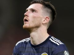 There was frustration for Andy Robertson and Scotland (Claus Bech/PA)