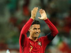 Cristiano Ronaldo applauds the fans after Portugal's dramatic 2-1 World Cup qualifier win over the Republic of Ireland (Isabel Infantes/PA)