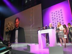 The Duke of Sussex presented the Heroes of the Year award to Professor Dame Sarah Gilbert, Dr Catherine Green and the team behind the Oxford/AstraZeneca vaccine at the GQ Men of the Year Awards 2021 in association with Boss (GQ Men Of The Year Awards 2021)