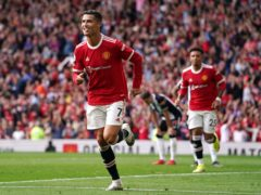 Cristiano Ronaldo celebrates his opener (Martin Rickett/PA)