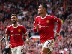 Cristiano Ronaldo had a day to celebrate on his Manchester United return (Martin Rickett/PA)