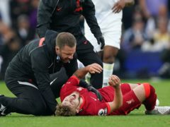 Harvey Elliott was left in agony after dislocating his ankle at Elland Road (Mike Egerton/PA)