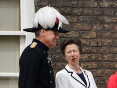 The Princess Royal speaks to the Governor of the Tower of London (PA)