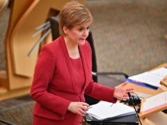 First Minister Nicola Sturgeon addressed the issue of the NHS at First Minister's Questions (Jeff J Mitchell/PA)